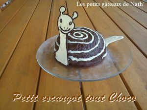 petit escargot tout choco Les petits gteaux de Nath'