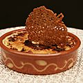 Crème légère brûlée à la vanille et tuile à l'orange