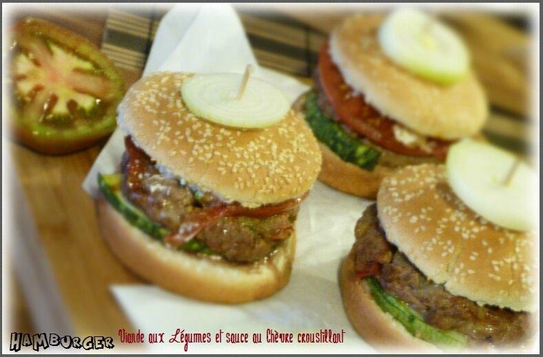 """ღ """" Miam """" Hamburger Viandes aux Légumes et sauce Chèvre croustillant"""