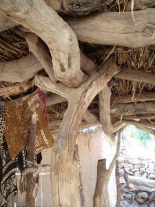 charpente d'auvent Pays dogon Mali