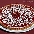 Tarte aux groseilles et  la rhubarbe