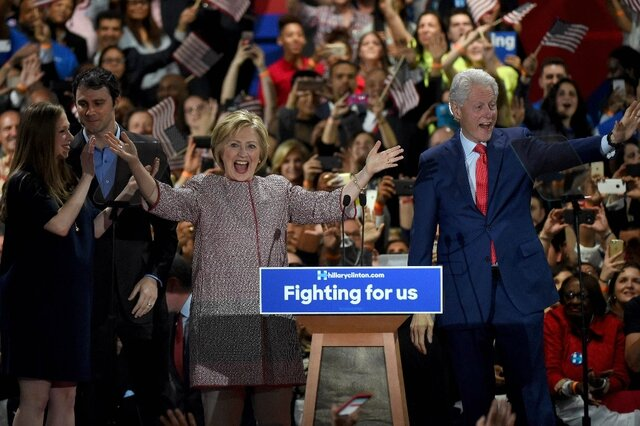 Hillary Clinton and Bill in New York