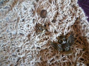 crochet sac en ficelle de lin détail