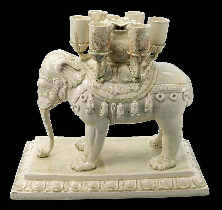 An important and very rare white glazed elephant candle stand sui an important and very rare white glazed elephant candle stand sui early tang dynasty 6th 7th century biocorpaavc Choice Image