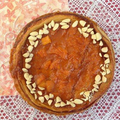 cheescake amandes et melon confit au miel-le renard et les raisins400