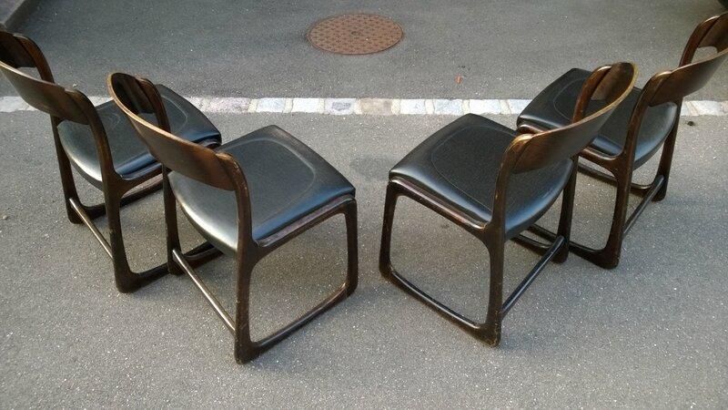 chaises traineaux baumann vintage indus what else. Black Bedroom Furniture Sets. Home Design Ideas