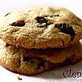 Cookies aux amandes et aux airelles séchées