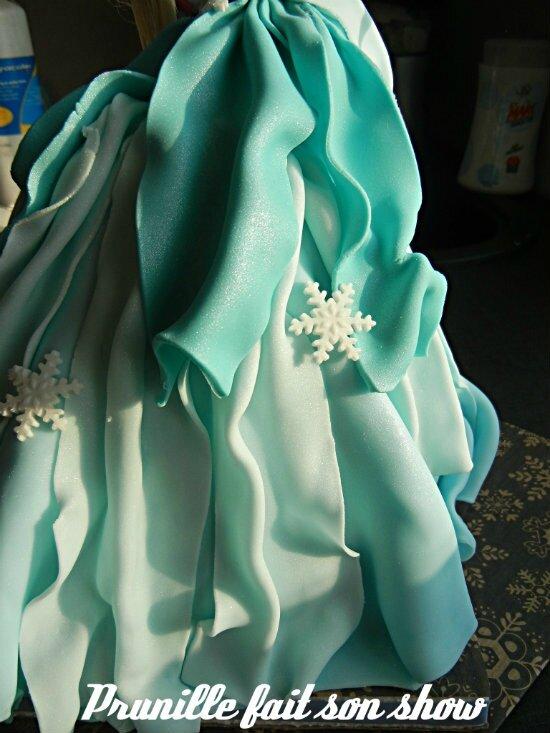 robe gateau elsa reine neige prunillefee