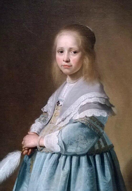 C. VERSPRONCK, la petite fille en bleu