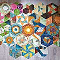 Défi hexagones france patchwork 2017