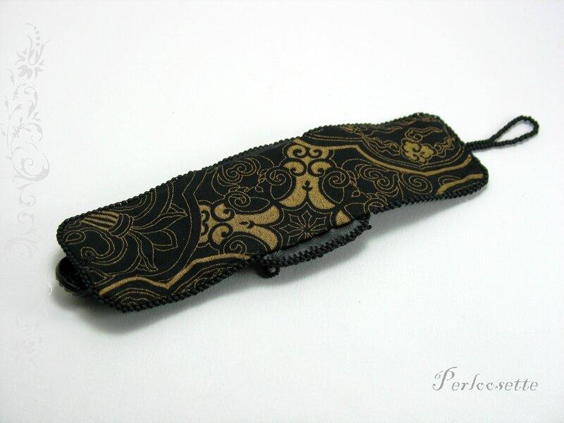 bracelet noir brodé2
