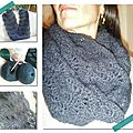 Snood dentelle au crochet