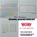 Mini enamel shapes kits and a winner!