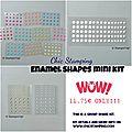 Mini enamel shapes kits and a winner!