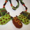 Nouveau collier.... feutrage à l'aiguille