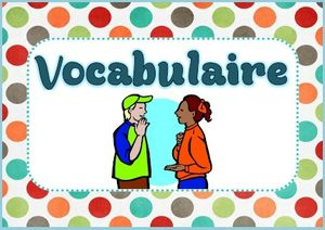 vocabulaire