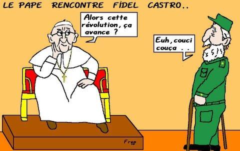 rencontre pape castro