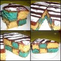 Gâteau damier : le principe...