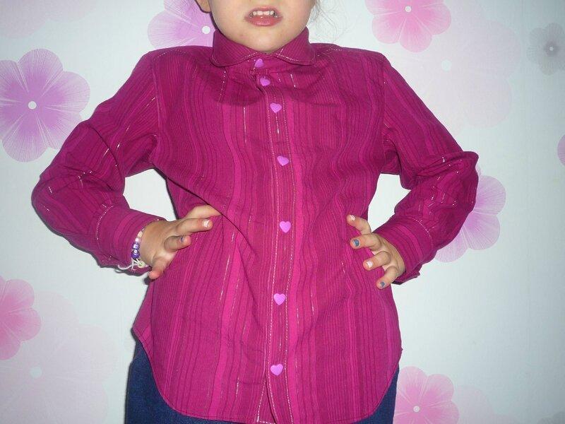 chemise n°33, vêtements faciles filles et garçons de céleste