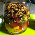 Crumble sur lit de fruit