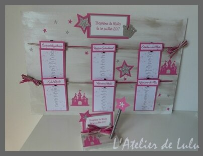 plan de table bapteme princesse