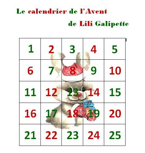 mon calendrier de l 39 avent 19 des galipettes entre les lignes. Black Bedroom Furniture Sets. Home Design Ideas