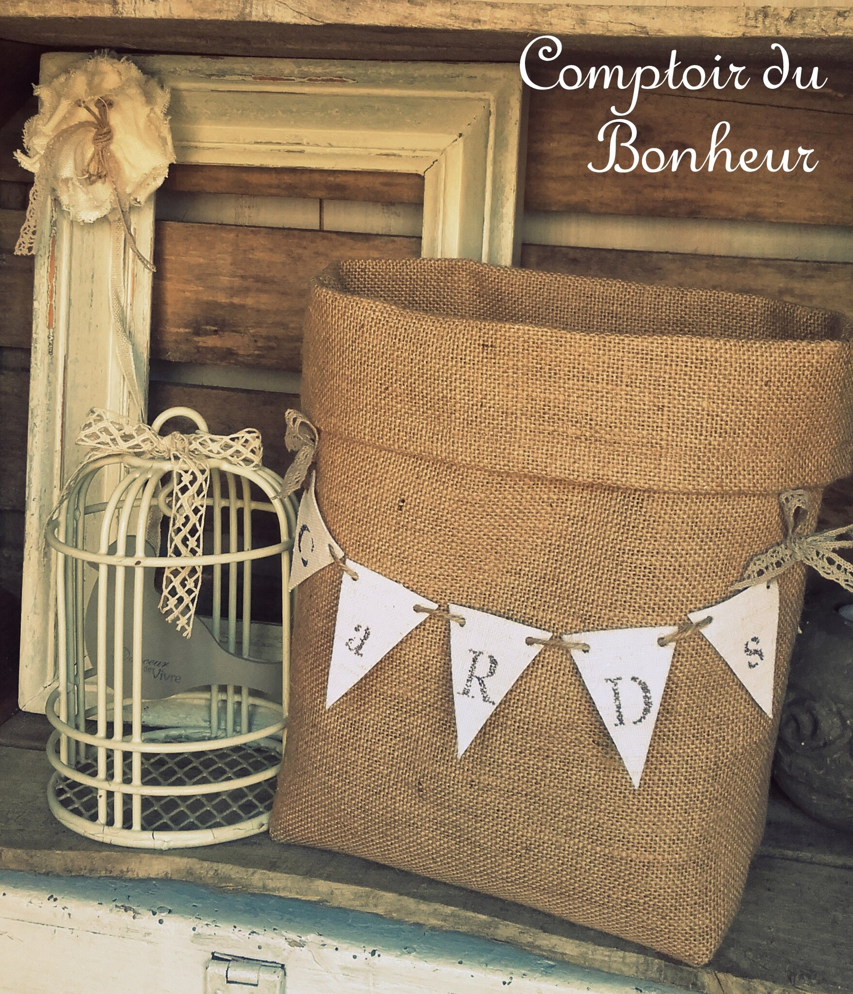 toile de jute tous les messages sur toile de jute comptoir du bonheur. Black Bedroom Furniture Sets. Home Design Ideas