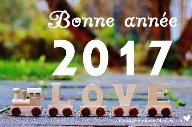 bonne anne 2017 love