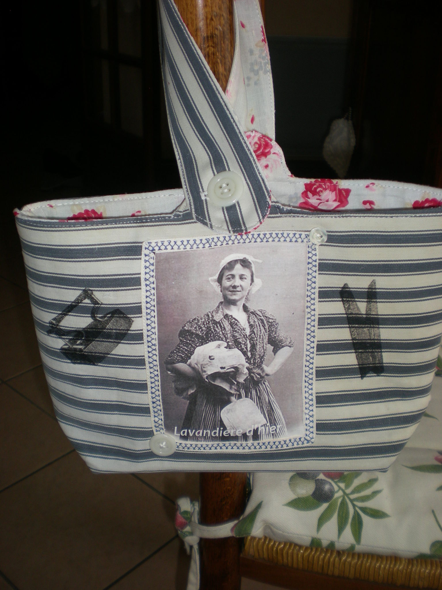 création RL sac pinces à linge
