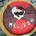 Gâteau monster high en pâte à sucre