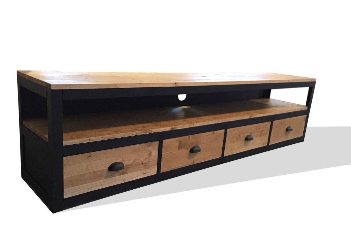 Meuble Tv Style Atelier - Meubles Et Rangements Meuble Tv Style Loft En Acier Et Bo 12283241 [mjhdah]https://www.5francs.com/wp-content/uploads/2015/03/meuble-tv-vestaire-bois-atelier-industriel-5francs-2-1048×820.jpg