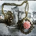 Collier art déco corail
