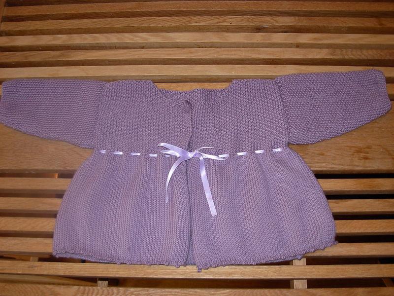 Garter stitch matinee coat