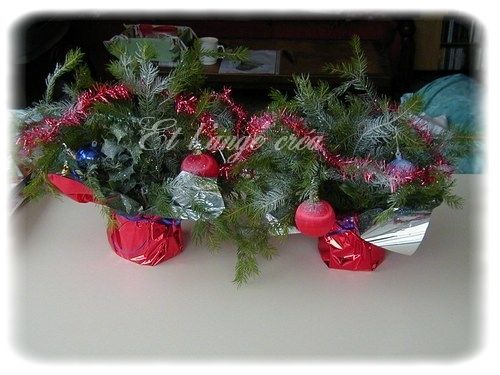 Composition de noel photo de composition florale le - Composition florale de noel originale ...
