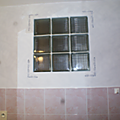 Le mur de la salle de bain