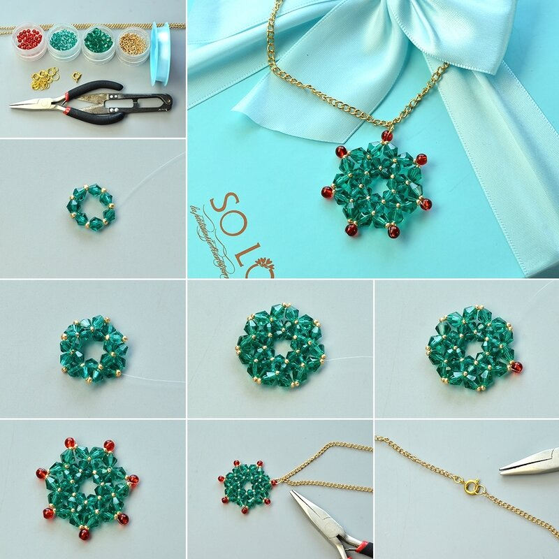 1080-Instructions-on-Making-Glass-Bead-Stitch-Flower-Pendant-Necklace