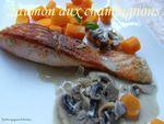 saumon au champignons