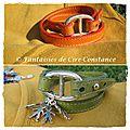 1. Bracelets Belle-Ile vert et orange personnalisés