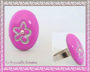Bague pop rose (2)