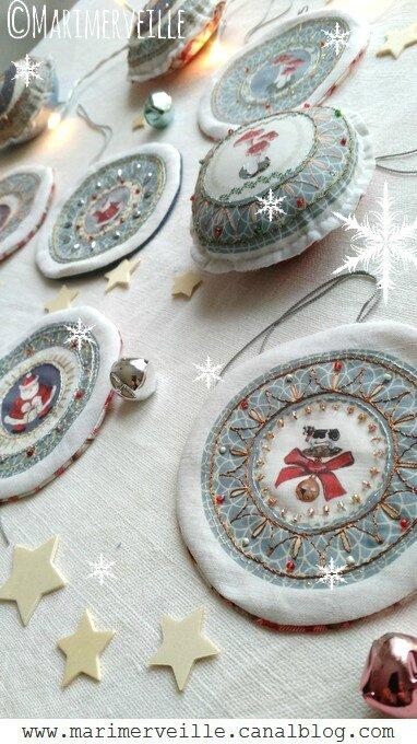 Collection Marimerveille galettes de Noël transferts à broder