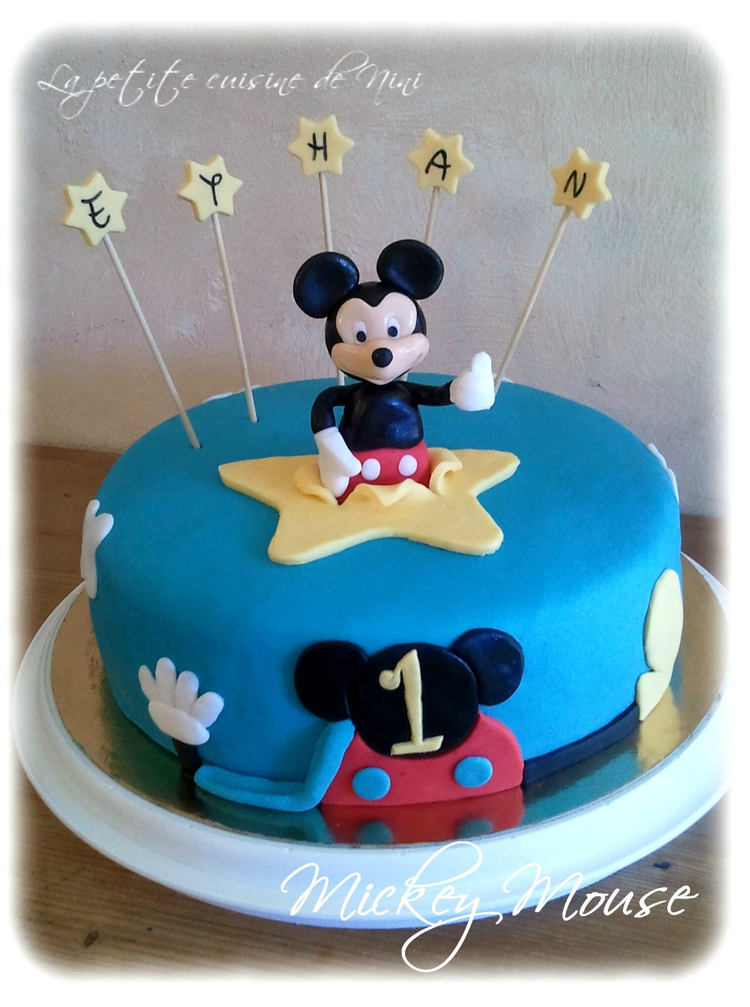 decoration gateau anniversaire mickey