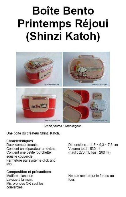 Boîte Bento Printemps Réjoui (Shinzi Katoh)