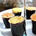 Gâteaux cuits dans la peau de bananes bio {recette banana cupcakes}