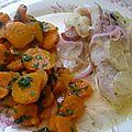 Filets de merlan au four et carottes vichy