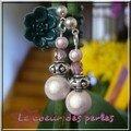 boucles d'oreilles métal et perles
