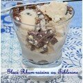 Glace rhum-raisins aux éclats de toblerone
