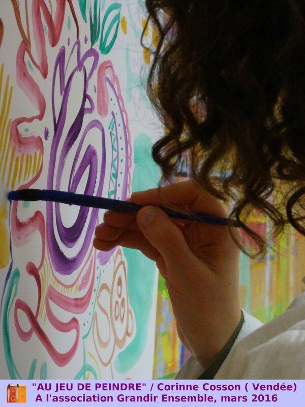 Au jeu de peindre mobile, Corinne Cosson