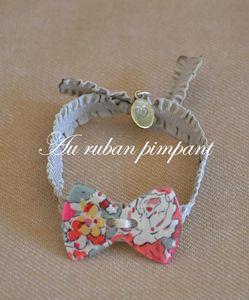 Bracelet__lastique_beige_noeud_liberty_Claire_Aude_rouge