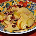 Salade de pommes à l'indienne