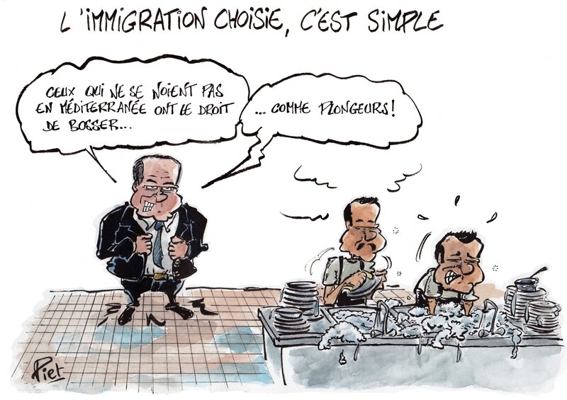 immigration choisie plonge